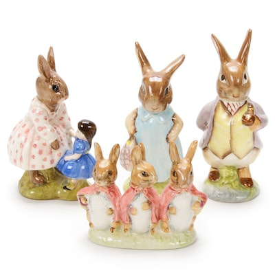 "Doulton Signed ""Peter Cottontail"", and Beswick Beatrix Potter China Figurines"