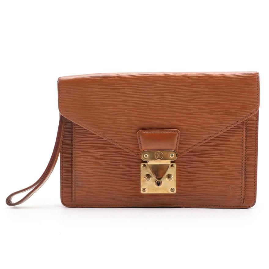 Louis Vuitton Sellier Dragonne Clutch in Cipango Gold Epi Leather