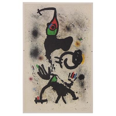 "Offset Lithograph after Joan Miró ""Traversing"", 21st Century"
