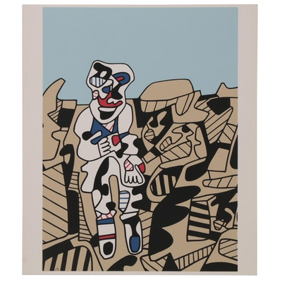 "Serigraph after Jean Dubuffet ""Inspection of the Territory"", 21st Century"