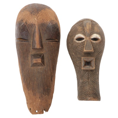 Songye Style Hand-Crafted Wooden Masks, Democratic Republic of the Congo
