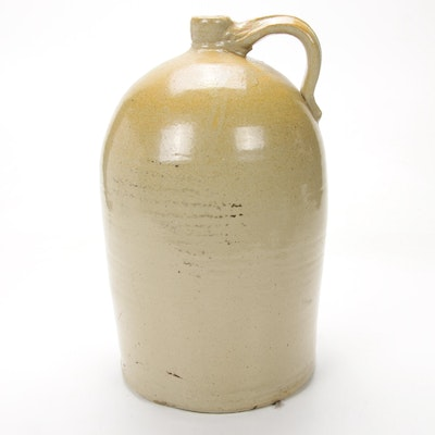 Salt Glazed 5 Gallon Stoneware Whiskey Jug, Early 20th Century
