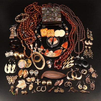 Jewelry Including Vintage Taylord, Crown Trifari, Pearl and Coral