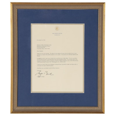 Letter from George W. Bush to Students of Mariemont Elementary School, 2001