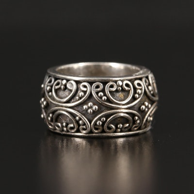 Sterling Silver Scrollwork Band