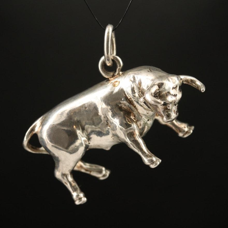 Sterling Bull Pendant
