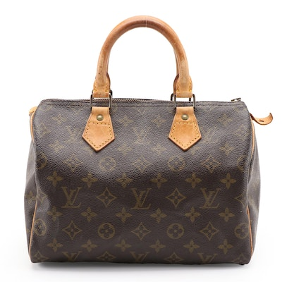 Louis Vuitton Speedy 25 Satchel in Monogram Canvas, 1980s Vintage