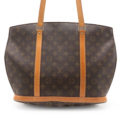 Louis Vuitton Babylone Tote in Monogram Canvas and Vachetta Leather