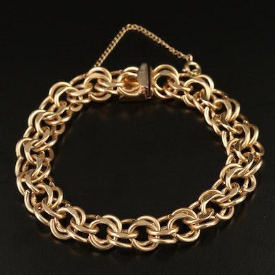 Double Curb Link Bracelet