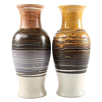 Royal Haeger Speckled Ceramic Vases, Mid-20th Century