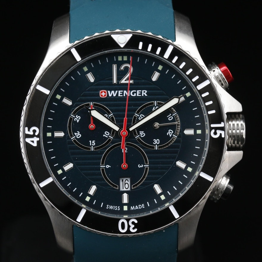 "Wenger ""Seaforce"" Chrono Stainless Steel Quartz Wristwatch"