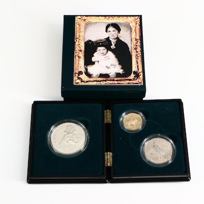 1995 Gold and Silver Civil War Commemorative Three-Coin Set