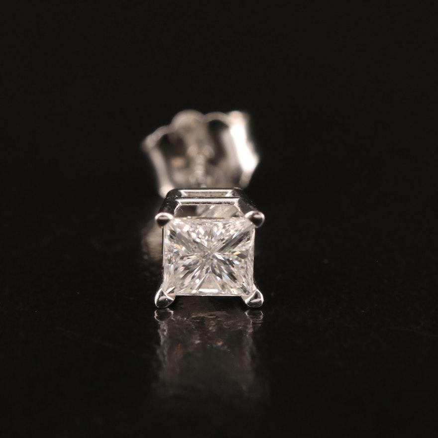 14K 0.30 CT Diamond Single Stud Earring