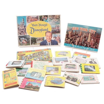 "Travel Brochures and Flip Books Including ""Walt Disney's Guide to Disneyland"""