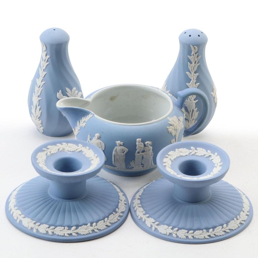 Wedgwod Blue Jasperware Table Accessories