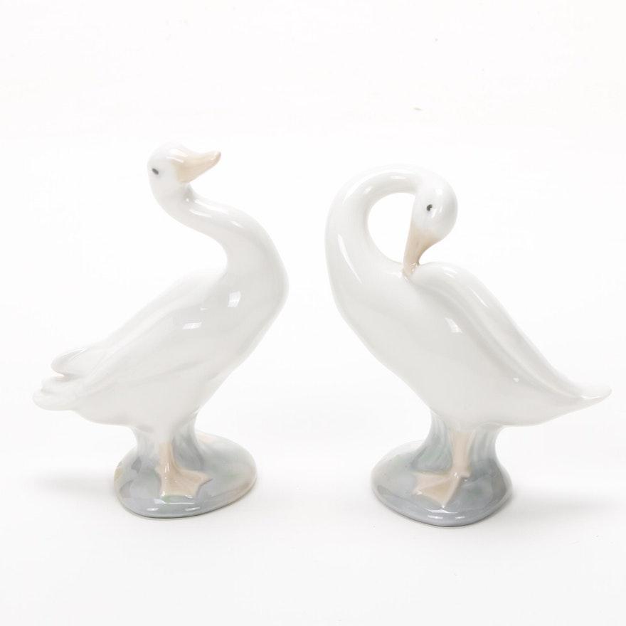 "Lladró ""Little Duck"" Porcelain Figurines Designed by Fulgencio García"