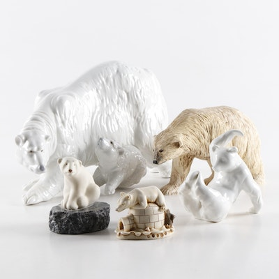 Nao by Lladró Polar Bear and Other Porcelain and Resin Polar Bear Figurines