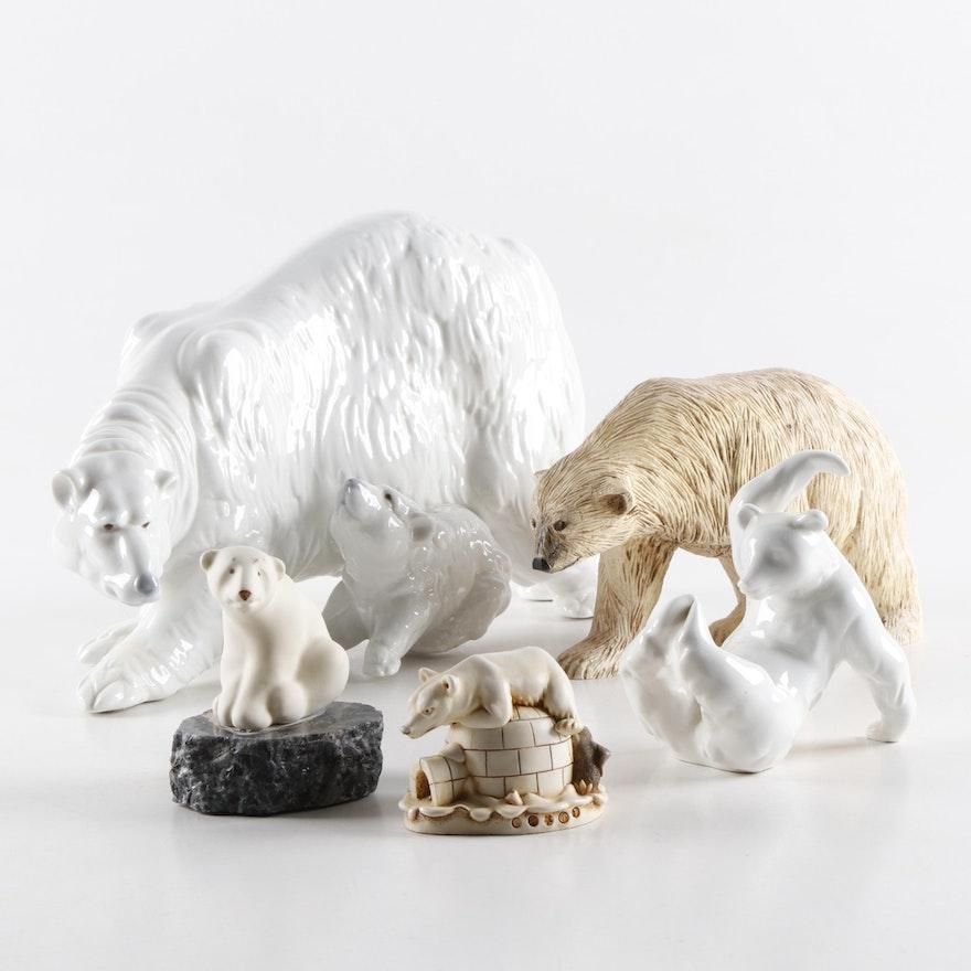 Nao by Lladró Polar Bear and Other Porcelain and Resin Polar Bear Figurines