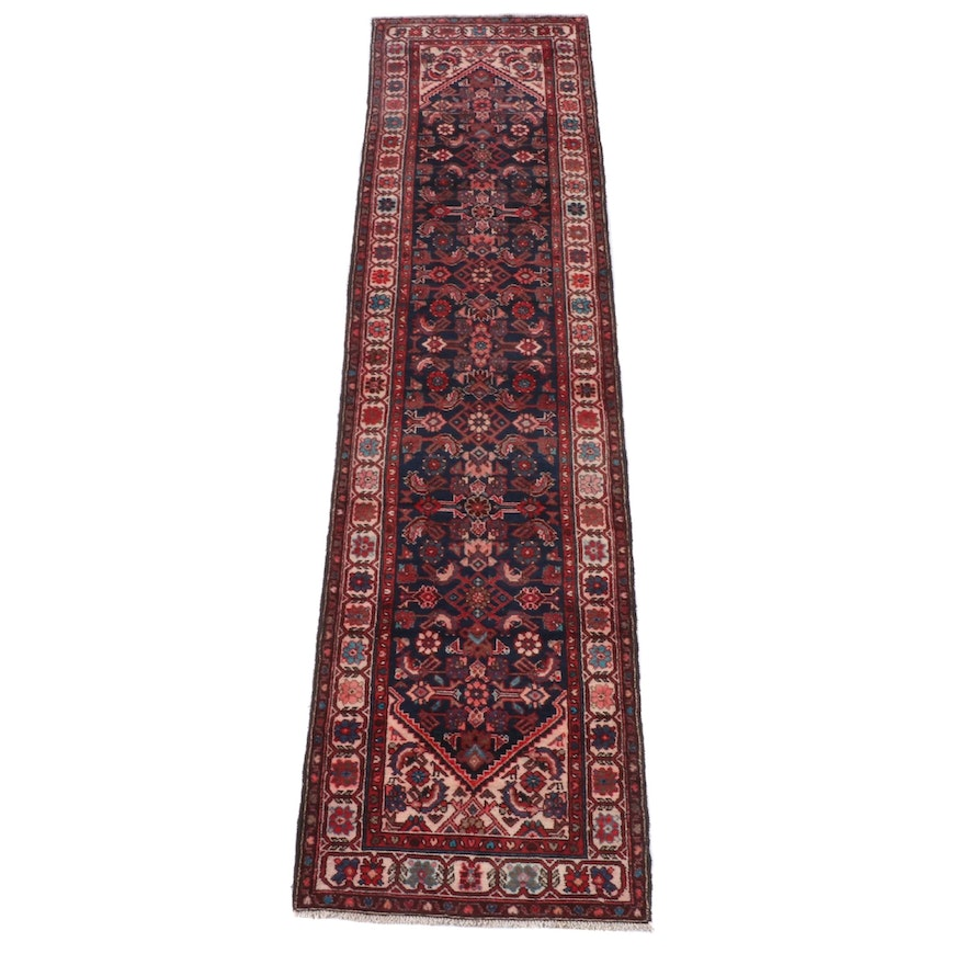 3'1 x 12'2 Hand-Knotted Persian Hamadan Wool Long Rug