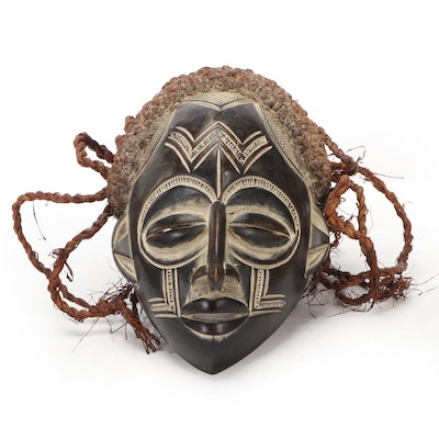 Chokwe Inspired Carved Wooden Mask, Central Africa