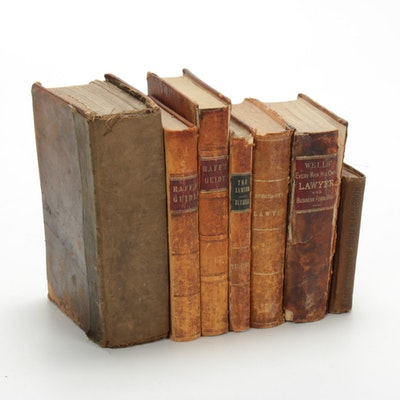 "Law Books Including ""Commentaries on the Laws of England,"" 19th Century"