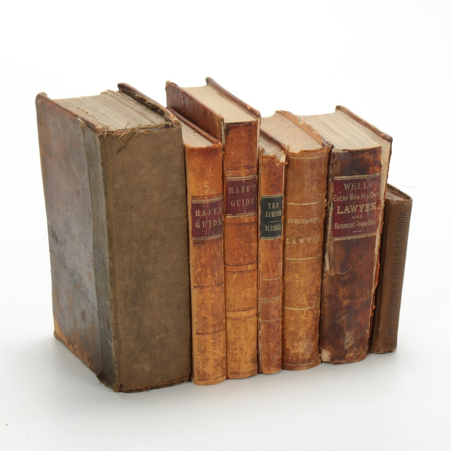 """Law Books Including """"Commentaries on the Laws of England,"""" 19th Century"""