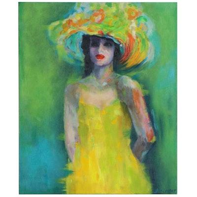 "Larissa Sievers Oil Painting After Viktor Sheleg ""Canary"", 2020"