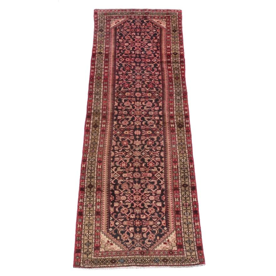 3'3 x 10'2 Hand-Knotted Persian Hamadan Wool Long Rug
