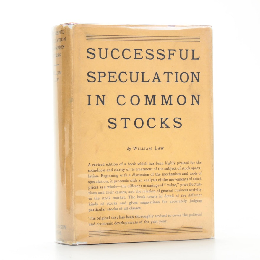 """Successful Speculation In Common Stocks"" by William Law, 1934"