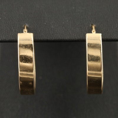 10K Oval Hoop Earrings