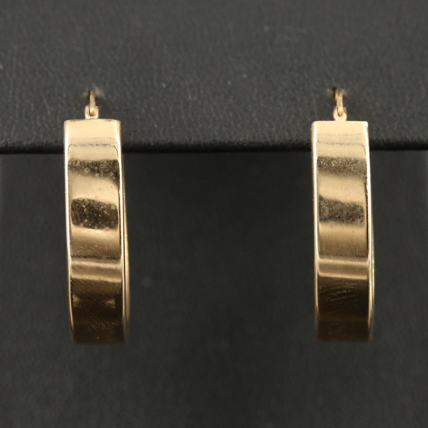 10K Oval Hoop Earrings