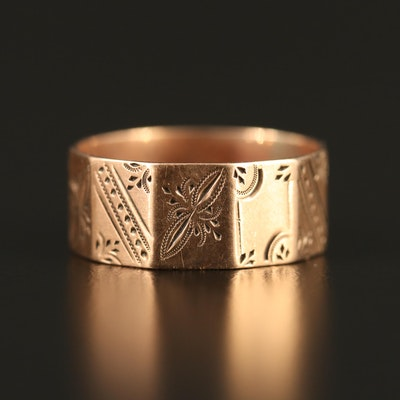 Victorian 9K Engraved Band