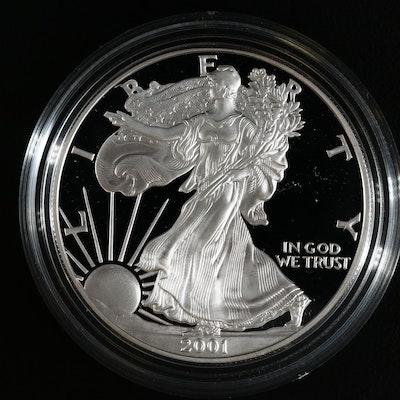 2001-W American Silver Eagle $1 Proof Bullion Coin