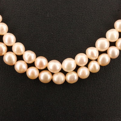 Pearl Double Strand Necklace