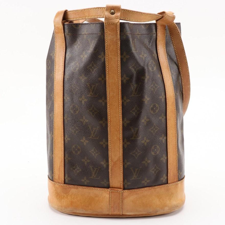 Louis Vuitton Randonne PM in Monogram Canvas and Vachetta Leather