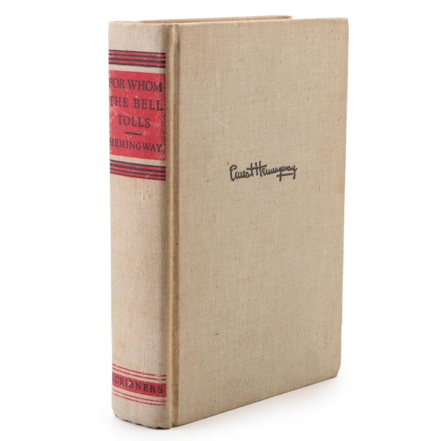 "First Edition ""For Whom the Bell Tolls"" by Ernest Hemingway, 1940"
