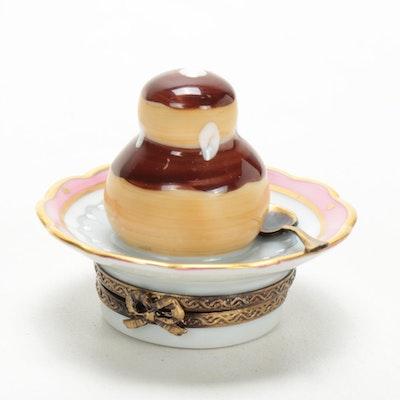 La Gloriette Hand-Painted Porcelain Pastry Limoges Box