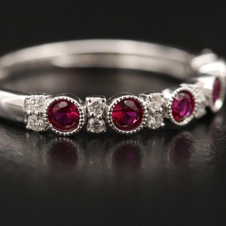 14K Ruby and Diamond Band
