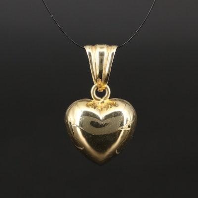 Kitsinian 14K Puff Heart Pendant