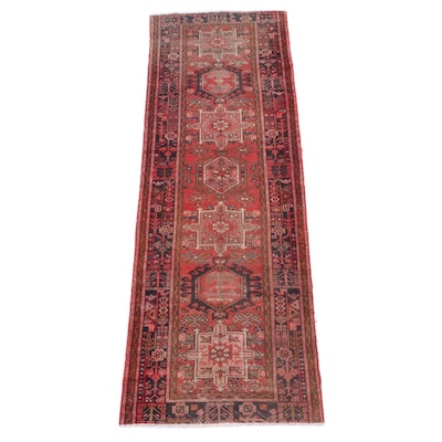 3'4 x 10'8 Hand-Knotted Persian Karaja Wool Long Rug