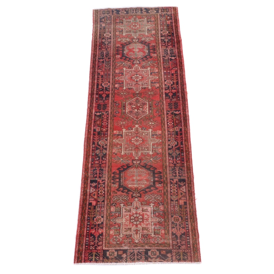 3'4 x 10'8 Hand-Knotted Persian Karaja Wool Long Rug