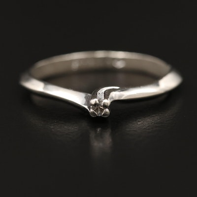 Sterling Silver Spinel Solitaire Ring