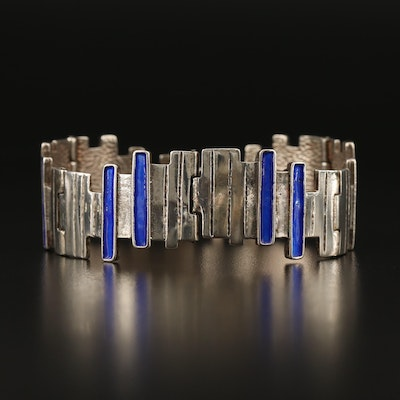 M. Giovannelli 800 Silver Bracelet with Enamel Accents