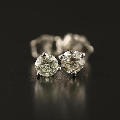 14K 0.40 CTW Martini Set Diamond Stud Earrings