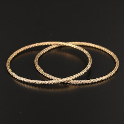Sterling Silver Woven Bangles