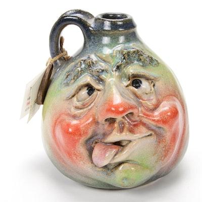"Ed Klimek Art Pottery Face Jug ""Butch"""