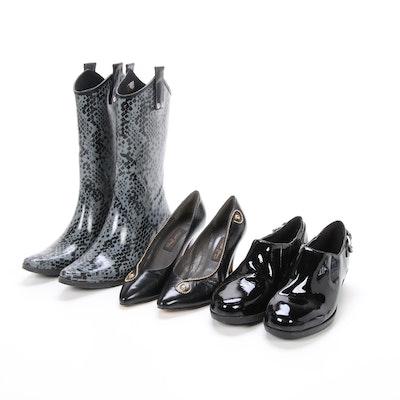 Cole Haan Shoes, Sesto Meucci Pumps, and Capelli Rain Boots
