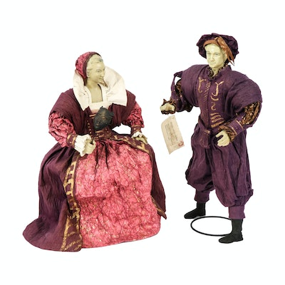 Renaissance Collection Abaca and Rice Paper Medieval Minstrel Figurines