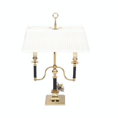 Brass Candlestick Library Lamp, Late 20th Century