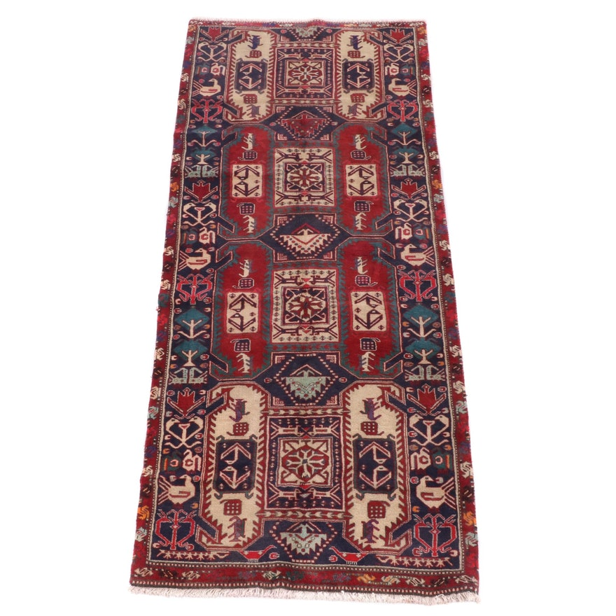 3'8 x 9'11 Hand-Knotted Persian Luri  Wool Rug